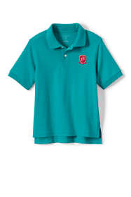 School Uniform Logo Little Kids Short Sleeve Interlock Polo