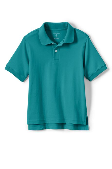 School Uniform Toddlers Short Short Sleeve Interlock Polo Shirt