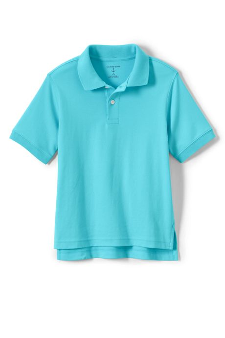 Big Kids Short Sleeve Interlock Polo