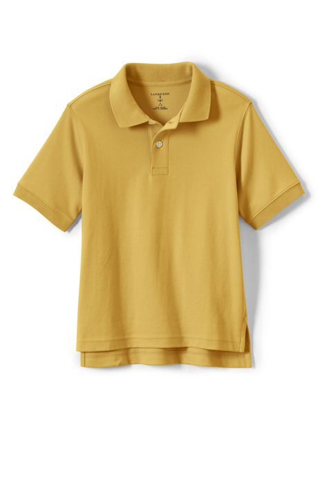 School Uniform Little Kids Short Sleeve Interlock Polo Shirt