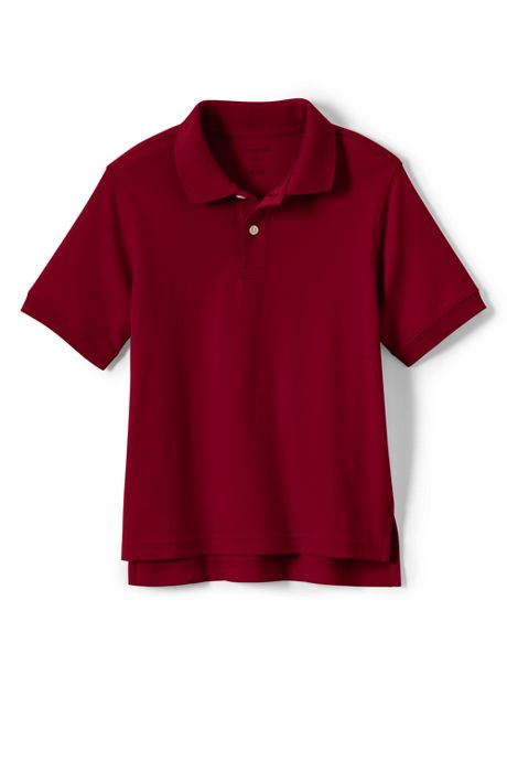 School Uniform Big Kids Husky Short Sleeve Interlock Polo