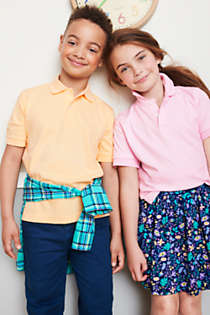 Kids Short Sleeve Interlock Polo Shirt, alternative image