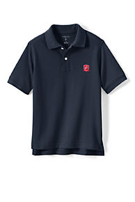692de12c1e4b99 School Uniform Logo Kids Short Sleeve Mesh Polo