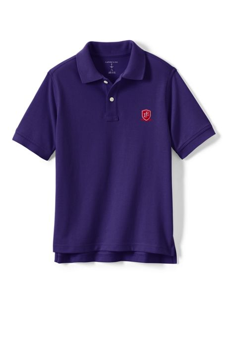 School Uniform Logo Kids Short Sleeve Performance Mesh Polo