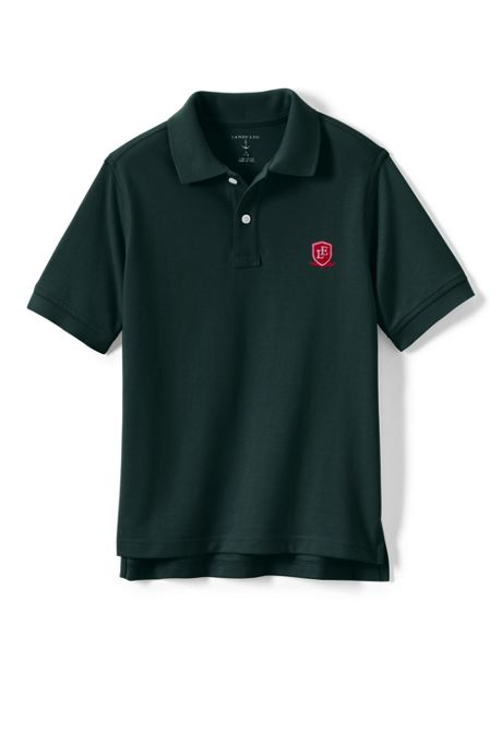 School Uniform Logo Toddlers Short Sleeve Performance Mesh Polo
