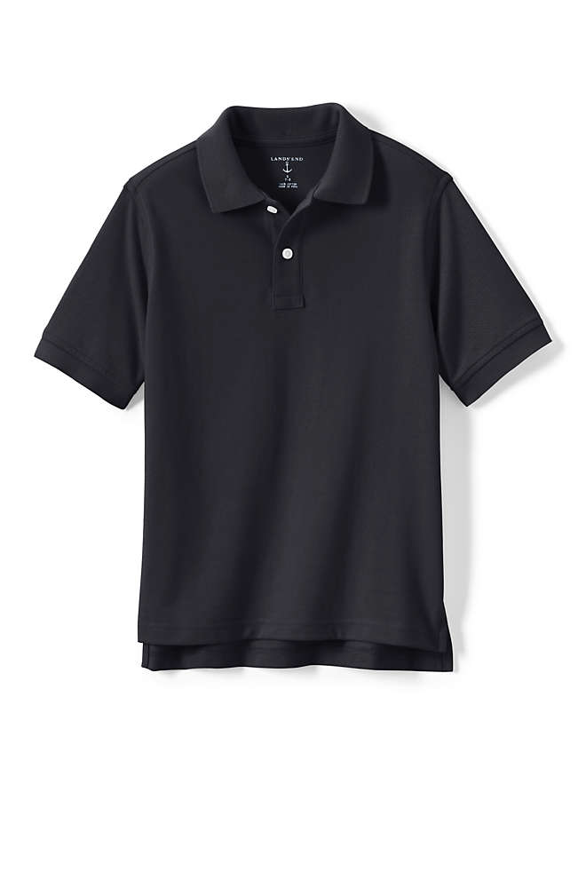 Kids Short Sleeve Mesh Polo Shirt, Front