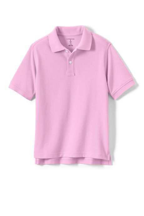 School Uniform Little Kids Short Sleeve Mesh Polo Shirt