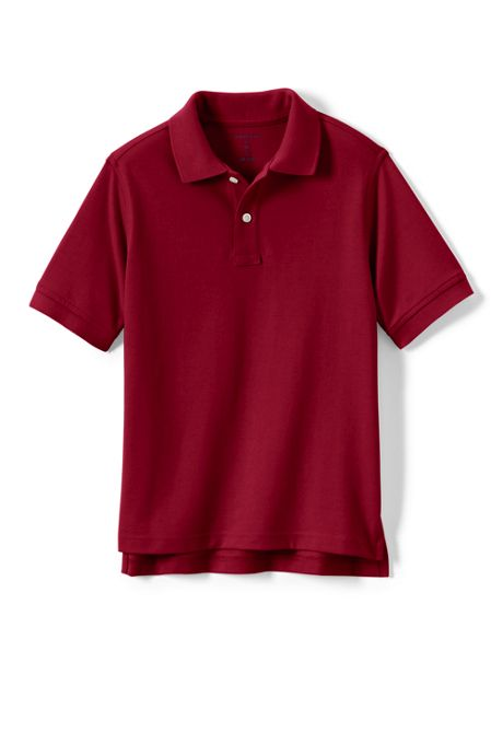 Kids Short Sleeve Mesh Polo Shirt