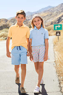 Kids Short Sleeve Mesh Polo Shirt, alternative image