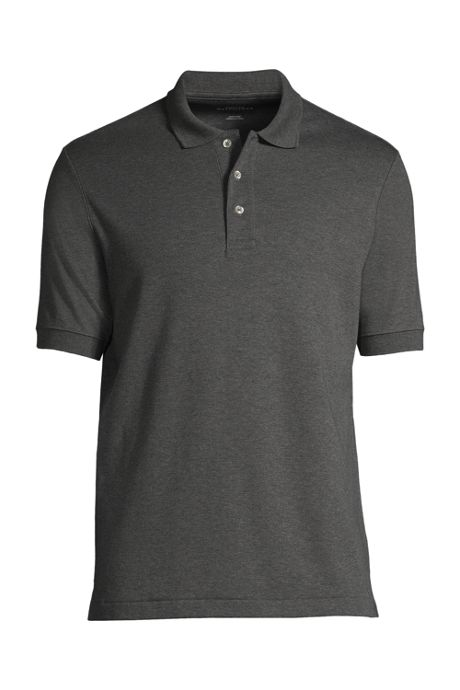 School Uniform Men's Tall Banded Short Sleeve Pima Polo