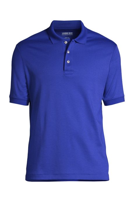 Men's Custom Logo Banded Short Sleeve Pima Cotton Polo Shirt