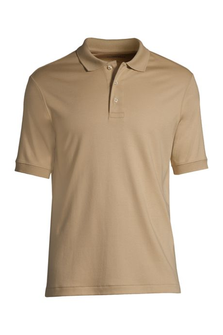 School Uniform Men's Big Banded Short Sleeve Pima Polo