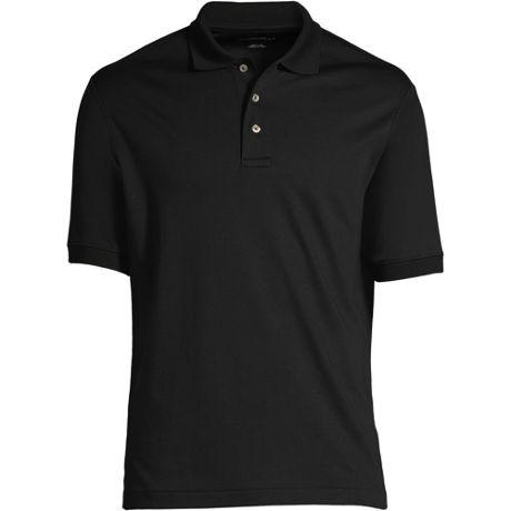 Men's Custom Logo Banded Short Sleeve Pima Cotton Polo Shirt