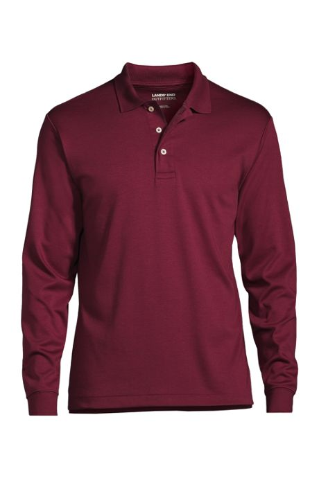 Men's Custom Embroidered Long Sleeve Pima Cotton Polo Shirt