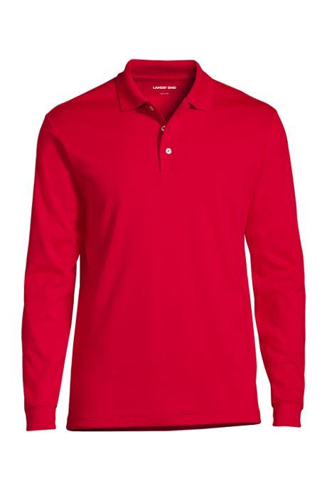 Men's Long Sleeve Pima Polo Shirt
