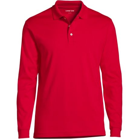 Men's Custom Embroidered Long Sleeve Pima Cotton Polo Shirt