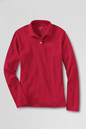 Women's Long Sleeve Performance Pima Polo Shirt