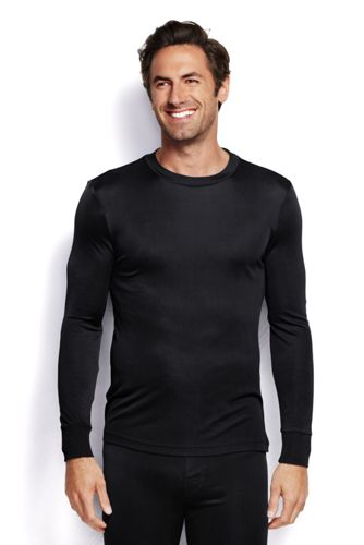 Men's Regular Long Sleeve Silk Interlock Thermal Crew Neck