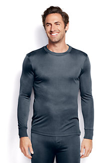 Men's Long Sleeve Silk Interlock Thermal Crew Neck