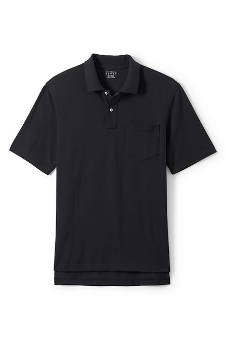Men 39 s regular short sleeve enhanced pocket mesh polo shirt for Short sleeve polo shirt with pocket