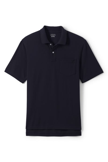 Men's Short Sleeve Enhanced Pocket Mesh Polo