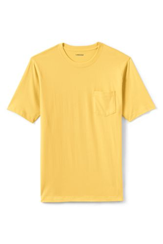 Men's Short Sleeve Super T With Pocket by Lands' End