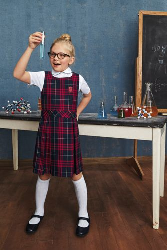 School Uniform Little Girls Plaid Jumper
