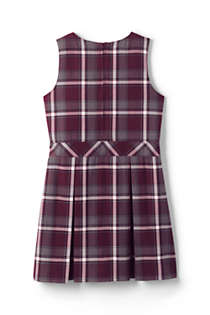 School Uniform Girls Uniform Plaid Jumper   , Back