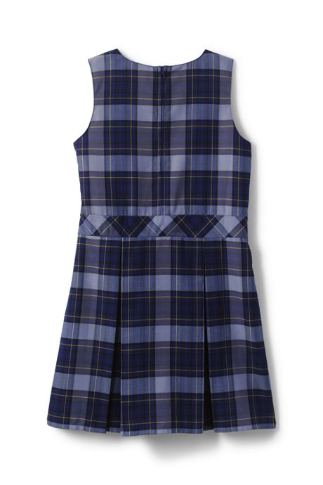 Girls Plus Uniform  Plaid Jumper