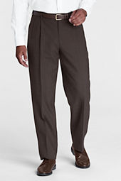 Men's Long Pre-hemmed Pleat Front Traditional Fit Year'rounder Dress Pants