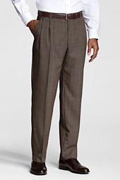 Men's Long Pleat Front Traditional Fit  Year'rounder Dress Pants