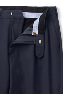 Men's Big and Tall Traditional Fit Pleated Year'rounder Wool Dress Pants, Unknown