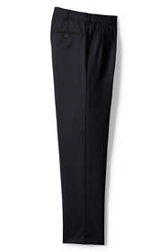 Men's Big and Tall Traditional Fit Pleat Year'rounder Wool Trousers