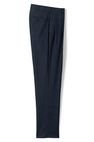 Men's Traditional Fit Pleat Wool Year'rounder Dress Trousers