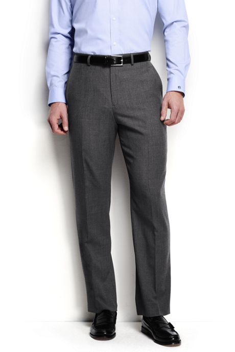 Men's Big and Tall Traditional Fit Year'rounder Wool Trousers