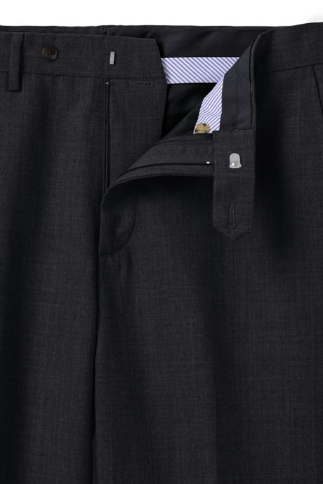 Men's Traditional Fit Year'rounder Wool Dress Pants