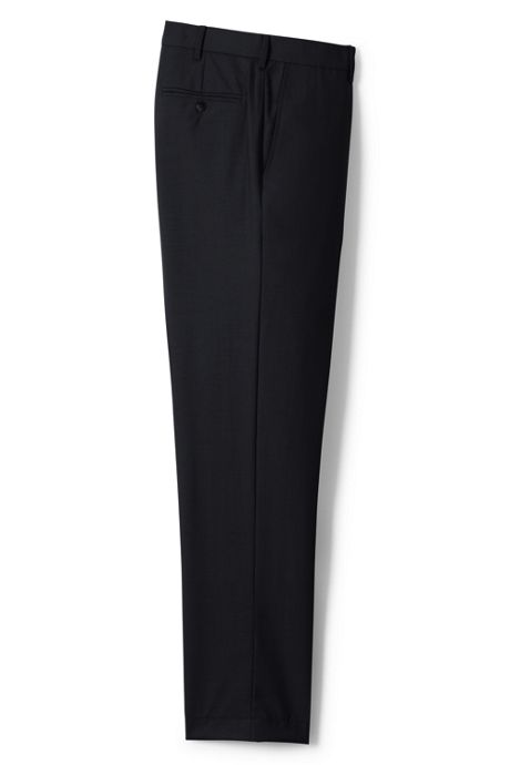 Men's Traditional Fit Wool Year'rounder Dress Trousers