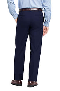 Men's Long Traditional Fit Year'rounder Wool Dress Pants, Back