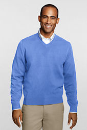 Men's Fine Gauge V-neck Pullover