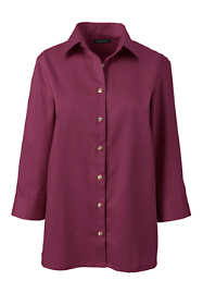 Women's Plus Size 3/4 Sleeve Performance Twill Shirt