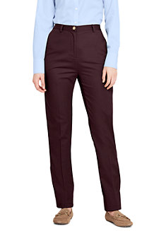 Women's High Waisted Chinos with Back-elastic