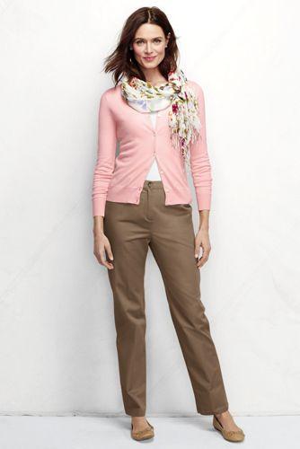 Taillenhohe Komfort-Chinos für Damen in Normalgröße