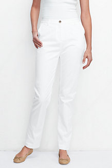 Women's High Rise Back-elastic Chinos
