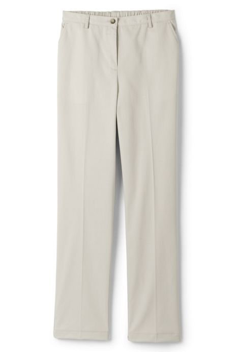 Women's Petite 7 Day Elastic Back Comfort Waist Pants