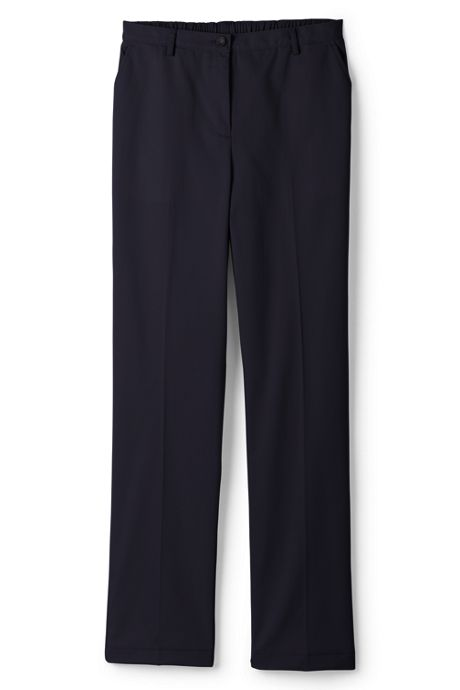Women's Plus Size Petite 7 Day Elastic Back Comfort Waist Pants