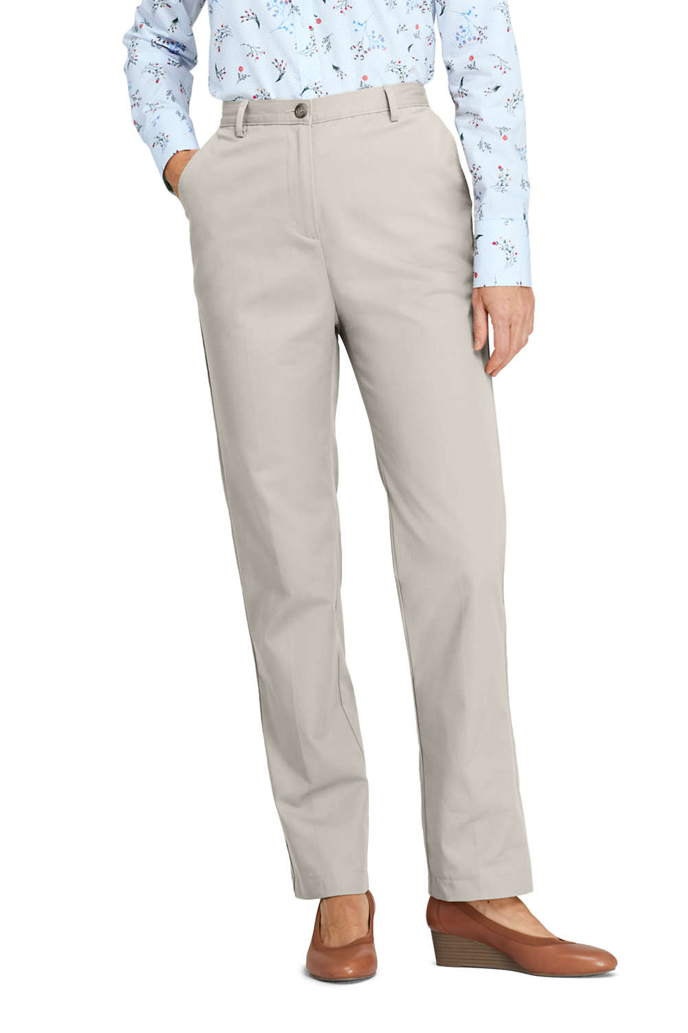 9eab57e4b3704 Women s 7 Day Elastic Back Pants from Lands  End