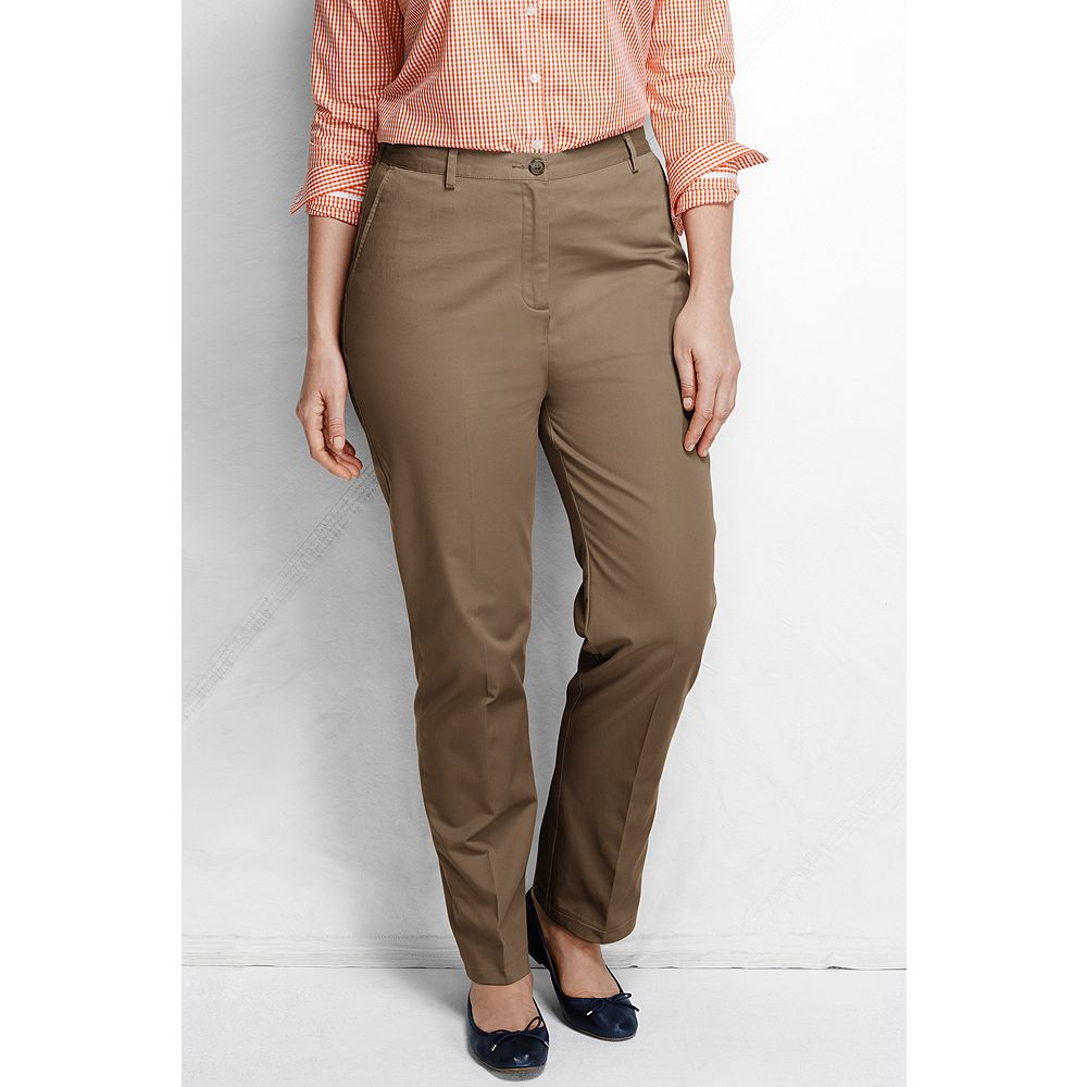 Lands' End Women's Plus Size Petite Fit 3 7-Day Back-elastic Twill Pants at Sears.com