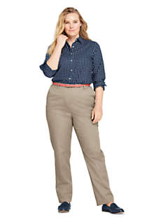 Women's Plus Size Petite 7 Day Elastic Back Comfort Waist Pants, Unknown