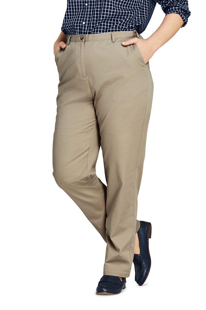 Women's Plus Size Petite 7 Day Elastic Back Comfort Waist Pants