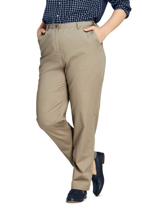 Women's Plus Size 7 Day Elastic Back Pants